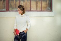 Tommy Girl, Tommy Hilfiger sweater and striped pants