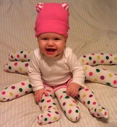 diy octopus halloween costume idea for baby just add 3 extra pairs of stuffed tights
