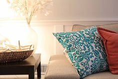 Turquoise & Coral Accent Pillows