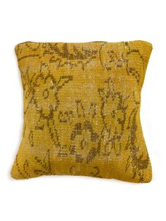Vintage Overdyed Yellow Pillow by nuLOOM