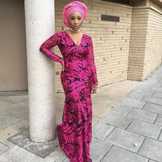 Today we've decided to bring you Volume 2 of the pink aso ebi lace styles. Its not uncommon to have the color pink as the choice color for an event African Men Fashion, African Dresses For Women, African Women, African Clothes, African Lace, African Wear, African Style, Aso Ebi Lace Styles, Ankara Styles