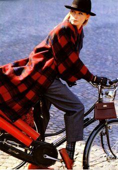 Elle France October 1986  Manteaux Des Createurs Photographer: Friedemann Hauss Model Estelle Lefebure