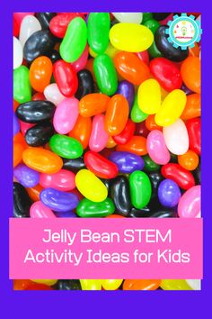 Jelly Bean STEM Experiments - Easter STEM Activities for Preschool - Healt and fitness Stem Projects For Kids, Math Projects, Science Fair Projects, Motion Video, Stop Motion, Stem Activities, Activities For Kids, Math Challenge, Jelly Beans