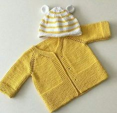 Hand knitted baby cardigan with decoration.Knitted baby by AnaSwet Baby Cardigan Knitting Pattern Free, Crochet Baby Sweaters, Baby Sweater Patterns, Knitted Baby Cardigan, Knitted Baby Clothes, Baby Knitting Patterns, Baby Patterns, Baby Knits, Jacket Pattern