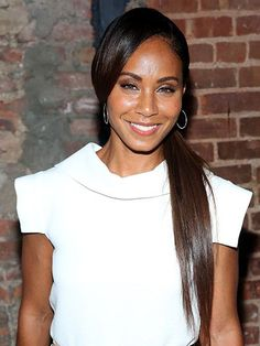 Jada Pinkett Smith's side-swept, long, straight ponytail | allure.com