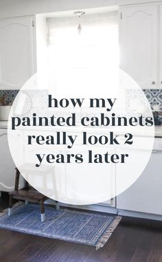 Now that a few years have passed since I painted our oak cabinets, I've been getting tons of questions from readers about how our painted cabinets are holding up and decided it was definitely time for a full update. I'm sharing a completely honest update so you can have all of the info you need before tackling this project in your own home. Bathroom Makeovers On A Budget, Diy Home Decor On A Budget, Kitchen On A Budget, Decorating On A Budget, Furniture Makeover, Diy Furniture, Painting Oak Cabinets, Diy Kitchen Remodel, Home Decor Quotes