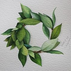 кантри -Fighting this week-Paper: Saunders waterford. Wreath Watercolor, Watercolor Leaves, Watercolor Drawing, Watercolor Cards, Watercolor Print, Watercolor Illustration, Painting & Drawing, Fleurs Art Nouveau, Illustration Blume