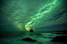 Aurora boreal en Reykjanes,#Islandia