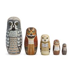 Toy / Owl Nesting Set