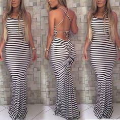 382c4bd916ab Fashion Women Summer Backless Beach Boho Long Maxi Evening Party Dress  Sundress Dress 2017