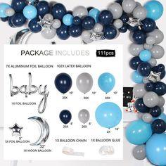Gift Boxes And Balloon Baby Balloon Hacks, Balloon Arch Diy, Balloon Garland, Diy Garland, Birthday Balloon Decorations, Birthday Balloons, Baby Shower Decorations, Balloon Arrangements, Baby Shower Balloons