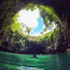 Amazing natural pool in Western Samoa