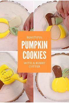Are you looking for an easy pumpkin cookie to make this fall or Halloween? Try these beautiful and elegant pumpkin cookies! They are made with a bunny cookie cutter, which is sometimes easier to find than a pumpkin cutter. These pumpkin cookies make a beautiful addition to a fall cookie platter, a Halloween party, or as a fun treat to make with your kids! #thebearfootbaker #halloweencookies #pumpkincookies #halloweentreatideas Fall Cookies, Pumpkin Cookies, Sugar Cookies, Halloween Cookies, Halloween Treats, Halloween Party, Little Pumpkin, A Pumpkin, Cookie Decorating