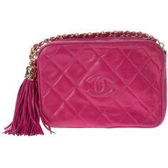 CHANEL VINTAGE Shoulder Bag (4,470 CAD) ❤ liked on Polyvore featuring bags, handbags, shoulder bags, chanel, clutches, chanel bags, women, vintage shoulder bag, purple purse and purple shoulder bag