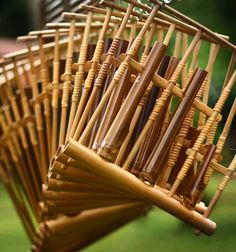 angklung - the sundanese traditional musical instrument, made of two bamboo tubes attached to a bamboo frame