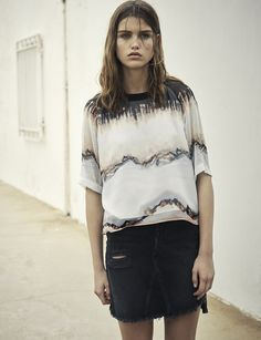 AllSaints Women's May Lookbook Look 7: Uma Crystal Top