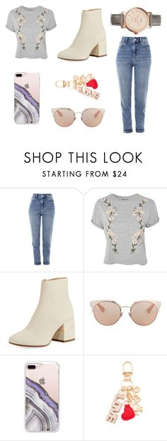 """Untitled #204"" by electronic-lions on Polyvore featuring Topshop, MM6 Maison Margiela, Christian Dior, Steve Madden, Tory Burch and FOSSIL"