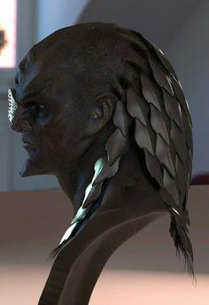 Klingon concept art from Star Trek Into Darkness