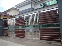 Stainless Steel Gate, House Gate Design, Safety And Security, Gates, House Plans, Purpose, Garage Doors, Peace, Windows