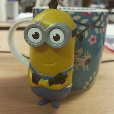 Happy Friday everyone! This cheeky minion is enjoying a brew with his lunch #analox #stokesley #happyfriday #cupoftea #minions #minion #happymeal #mcdonalds #ax60
