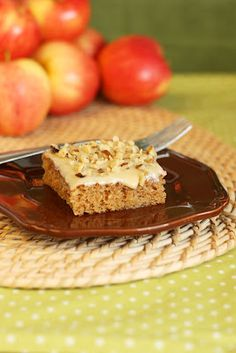 Maple Apple Cake Bars with Maple Cream Cheese Glaze, amazing!