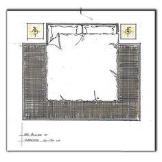 Bed 180x200 cm op een vloerkleed 200x300 cm