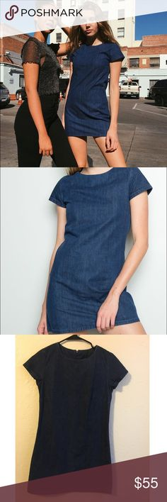 Brandy Melville rare denim Vanessa dress 100% cotton, new without tags.. best for a small Brandy Melville Dresses Mini