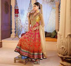 Z Fashion Trend: COLOURFUL DESIGNER PARTY WEAR ANARKALI