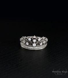 63f5055d88 Queen crown ring, Crown silver ring, Tiara ring, Women crown ring, Sterling