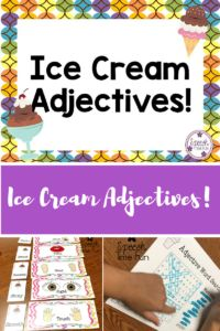 Ice Cream Adjectives!  6 activities and worksheets included to work on adjectives in speech in a fun and engaging way!