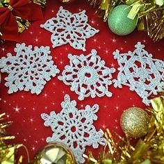 Crochet For Children: 5 Free Crochet Snowflake Patterns