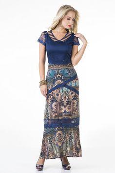 Vestido Kauly Empresária 1655 é na Saia Bella, Compre Moda Evangélica Online!