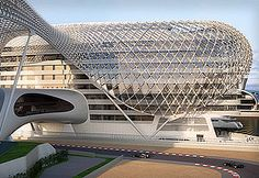 Yas Hotel    Asymptote Architecture has designed the Yas hotel project in Abu Dhabi