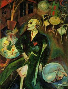 je suis en terrasse (1916) (George Grosz The Lovesick Man)