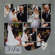 What a better template than Harmony for a wedding!  Photo Collage created by Betty Roberts (designer at Lea France) using Harmony Stencil.