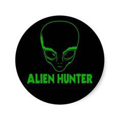 Alien Hunter Sticker #Sticker #AlienHunter #AlienHunters #Alien #Extraterrestrial