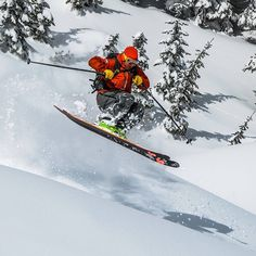 Chad in perfect form @fwapowder Patrick Belisle #catskiing #skiing #backcountry #fernie #powderhighway #winteriscoming
