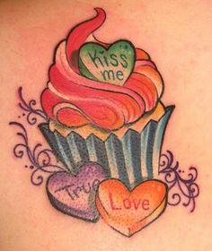 ♥ cupcake tattoo