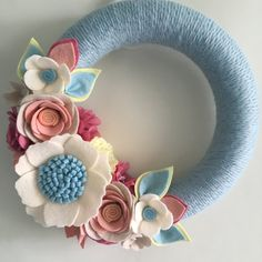 10 Light blue peach rose wreath by wiltedrosewreaths on Etsy