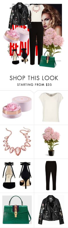 """""""Inspiration!"""" by anitafonseca ❤ liked on Polyvore featuring Lancôme, Alberto Biani, Thalia Sodi, National Tree Company, Nine West, The Row and Gucci"""