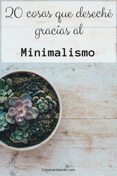 20 cosas que eliminar si se quiere empezar en el minimalismo. El minimalismo se trata de poseer cosas que amamos y no dejar que ellas nos posean a nosotros. Aquí está la lista de todo lo que yo deseché para que te inspires.