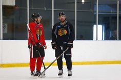 The Patricks at Blackhawks' All-Access Monday's Practice - 04/27/2015