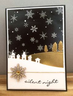 Just Add Ink, Stampin Up, Winter Wonderland, Sleigh Ride Edgelits, Jingle All The Way