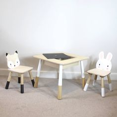 Childs Wooden Table And Chairs by Lime Tree London, the perfect gift for Explore more unique gifts in our curated marketplace. Wooden Childrens Table, Playroom Table, Wooden Table And Chairs, Furniture Styles, Crafts To Do, Birthday Presents, 6 Years, Unique Gifts, Nursery