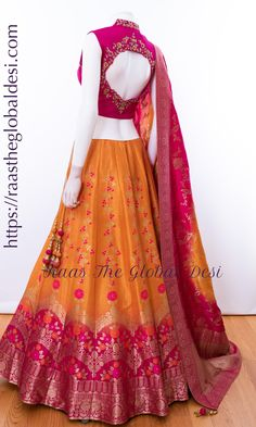 CHANIYA CHOLI 2019 Latest designer & custom-made Lehenga Choli online online.Browse our beautiful designer collection -featuring unique designs & embroidery! Available now in the USA, Canada & Australia! Indian Lehenga, Half Saree Lehenga, Lehenga Gown, Lehenga Choli Online, Lehenga Blouse, Brocade Lehenga, Banarasi Lehenga, Lehenga Choli Designs, Salwar Designs