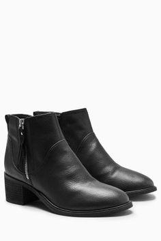 Buy Zip Block Heel Ankle Boots online today at Next: Israel