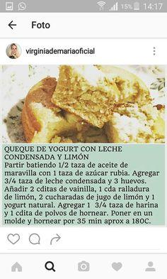 Queque de yogurt con leche de Virginia de María