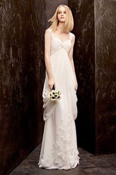 A vintage-style #wedding dress from WHITE by Vera Wang at David's Bridal, Fall 2012, $628