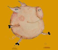 Skipping Pig | Katrin Artworks