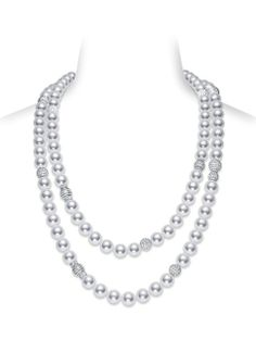 White South Sea Cultured Pearl Strand Necklace
